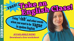 Take an English class: Vague expressions