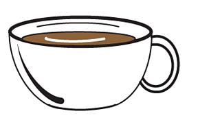 A ceramic cup.