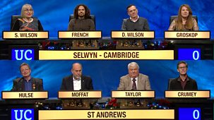 University Challenge - Christmas 2017: 2. Selwyn College, Cambridge V St Andrews University