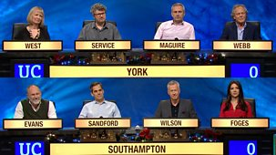 University Challenge - Christmas 2017: 3. University Of York V University Of Southampton