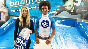 Blue Peter Bite - Series 3: 24. Radzi's Indoor Surfing Challenge