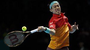 Tennis: World Tour Finals - 2018: Day 1 - Roger Federer V Kei Nishikori