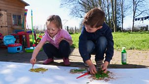 Our Family - Our Family Fun: 23. Ottalie's Giant Footprint Picture