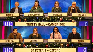 University Challenge - Christmas 2019: 6. Trinity Hall, Cambridge V St Peter's College, Oxford
