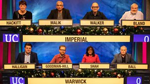 University Challenge - Christmas 2019: 7. Warwick V Imperial