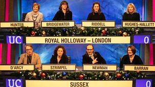 University Challenge - Christmas 2019: 5. Royal Holloway V Sussex