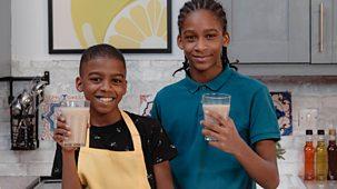 What's Cooking Omari? - Series 1: 1. Omari's Banana Shake Breakfast Shaky Shake Shake