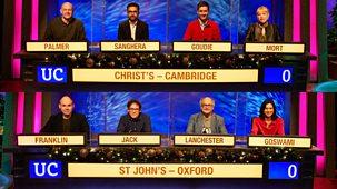 University Challenge - Christmas 2020: 1. Christ's Cambridge V St John's Oxford