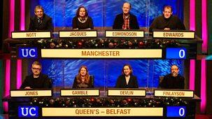 University Challenge - Christmas 2020: 2. Manchester V Queen's Belfast