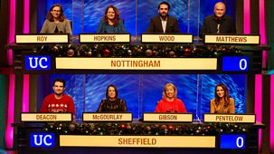 University Challenge - Christmas 2020: 4. Nottingham V Sheffield
