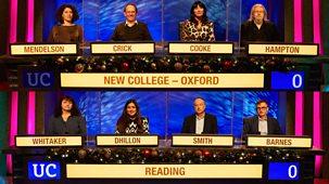 University Challenge - Christmas 2020: 7. New College Oxford V Reading