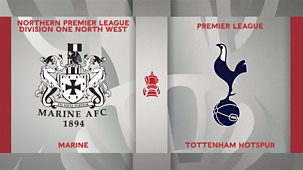 Fa Cup - 2020/21: Third Round: Marine V Tottenham Hotspur