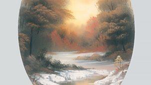 The Joy Of Painting - Series 4: 24. Hidden Winter Moon Oval