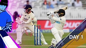 Cricket: Today At The Test - England V New Zealand 2021: 1. First Test: Day One Highlights