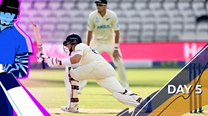 Cricket: Today At The Test - England V New Zealand 2021: 5. First Test: Day Five Highlights