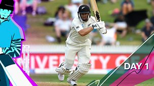 Cricket: Today At The Test - England V New Zealand 2021: 6. Second Test: Day One Highlights