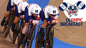 Olympics - Day 10: Olympic Breakfast - Track Cycling