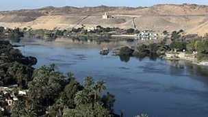 How does the River Nile help people survive in Egypt?