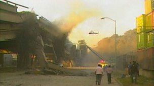 The earthquake in Santa Cruz, California in 1989