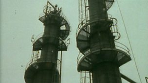 Refinement of oil into fuel products using fractional distillation