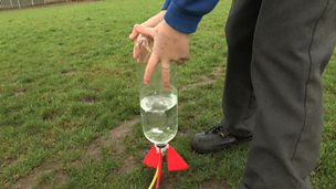 Experimenting with water rockets