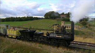 The invention of the steam locomotive