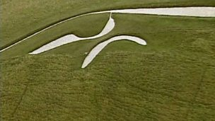 The White Horse of Uffington Castle and Dragon Hill