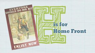 WW1 A to Z - H is for Home Front