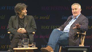 Image result for hay festival talks neil gaiman