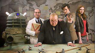 Bracewell, Churchill, the Doctor and Amy