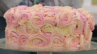 BBC One - The Great British Bake Off, Series 3, The best and worst bakes of series  3 - Episode 1 - Cake - Nastasha's hidden rose sunset cake