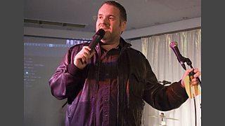 We've arrived at a fancy nightclub in Milton Keynes for some Moyles karaoke action!