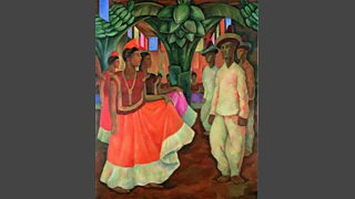 Dance in Tehuantepec (Baile in Tehuantepec), 1928 by Diego Rivera - Photo Collection of Clarissa and Edgar Brontman Jr.