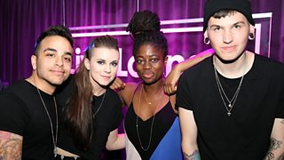 BBC Radio 1 - Clara Amfo, PVRIS in the Live Lounge, PVRIS in the
