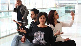 Vincent Ebrahim as Uncle Bach, Chris Nayak as Raj, Meera Syal as Bindi and Krupa Pattani as Anu