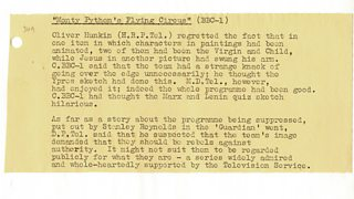 Monty Python s Flying Circus TV Weekly Programme Review 16 December 1970