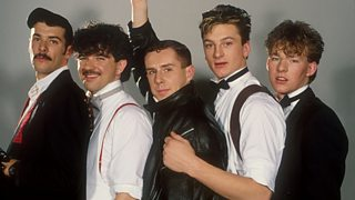 Frankie Goes to Hollywood, pictured in 1984