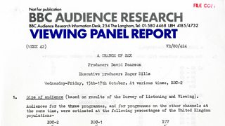 BBC Audience Research Viewing Panel Report, Week 42, 1979.