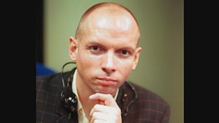 Nigel Wrench, Presenter, Out this Week, pictured in 1994.