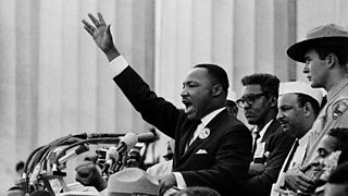 Martin Luther King, Jr delivering his 'I Have a Dream' speech.