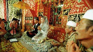 Indonesian Muslim wedding scene