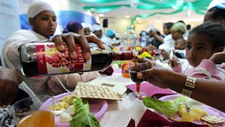 Ethiopian immigrants attend Passover Seder rehearsal in Mevesserent Zion absoprtion center