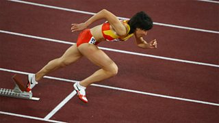 Athlete Leaves Starting Blocks