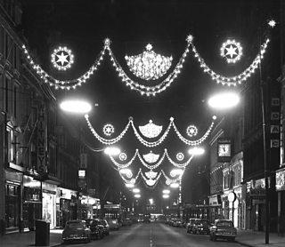 Christmas lights on Buchanan Street