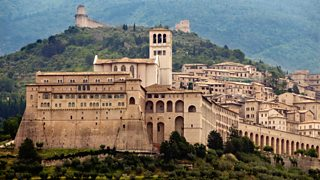 Church of St Francis in the walled town of Assisi