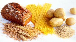 Bread, grain, pasta, potatoes and rice.
