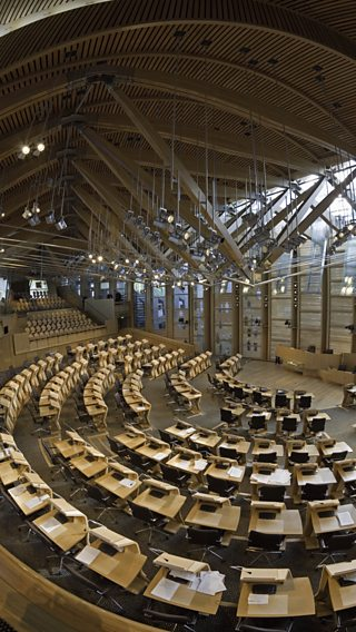 Inside the Scottish Parliament building