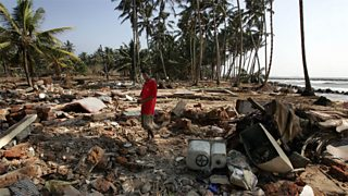 Tsunami aftermath in Sri Lanka