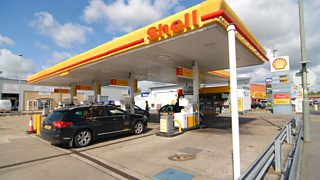 Shell petrol station in the UK