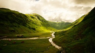 U-shaped valley in Hola Valley, Norway